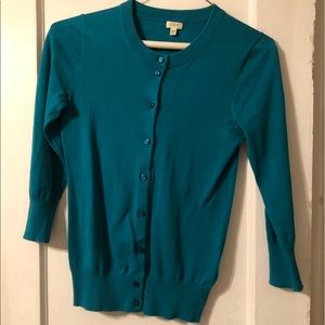 Turquoise JCrew Cardigan